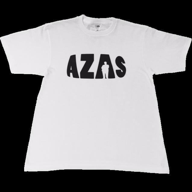 【トップス】AZASロゴT(ホワイト×ブラック)