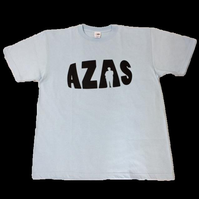 【トップス】AZASロゴT(ライトブルー×ブラック)