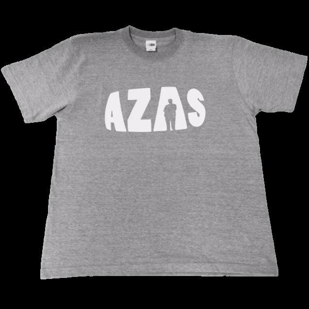 【トップス】AZASロゴT(ミックスグレー×ホワイト)