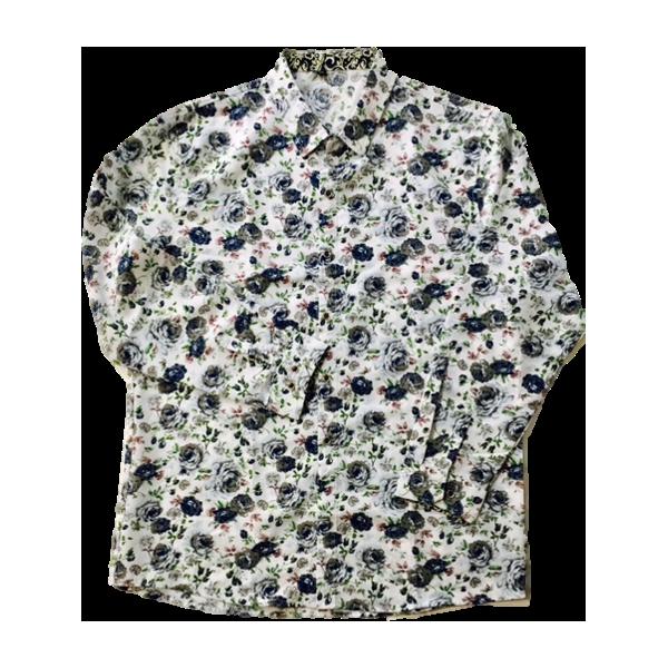 【シャツ】花柄シャツ